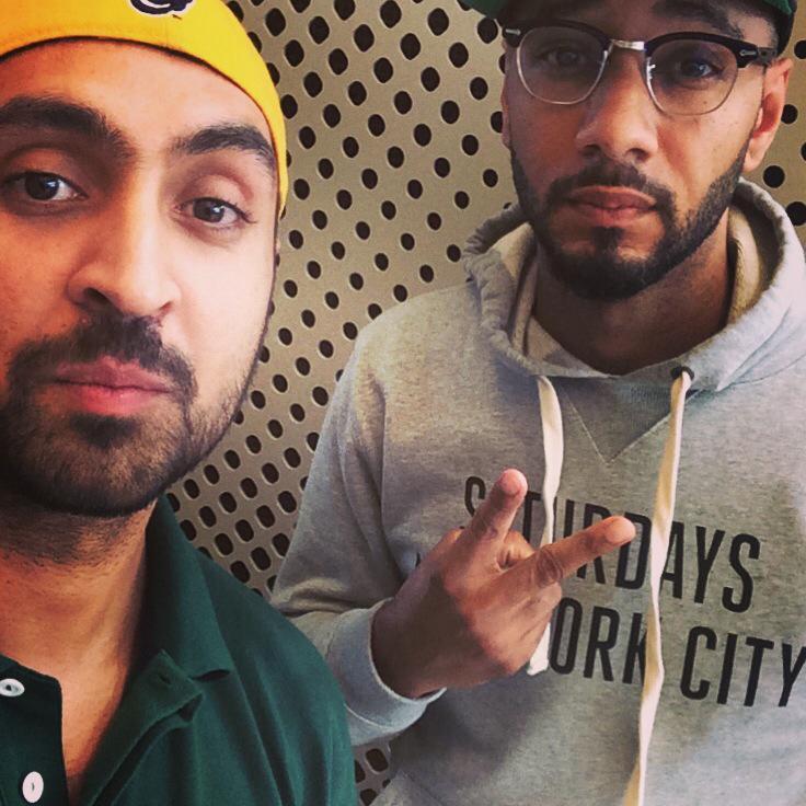 Diljit Dosanjh with Hip Hop's Swizz Beats